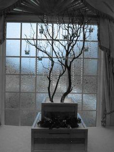 Crystal Wedding Tree Centerpieces - Manzanita. $110.00, via Etsy.