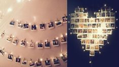 hanging photos on a string - Google Search