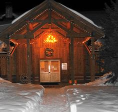 Inviting place to hang your skis at night at our Lodge