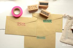 Washi tape stamps - perfect combo! @Ishtar olivera