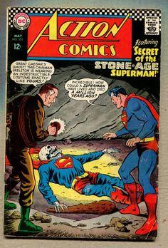 Action Comics #350 - Secret Of The Stone-Age Superman! - 1967 (Grade 5.0) WH