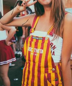 ♡M o n i q u e.M College Games, College Game Days, College Life, Tailgate Outfit, Overalls Outfit, Usc Trojans, Fashion Line, College Outfits, Poses