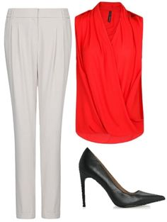 red and white, fashion look