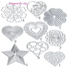 Flower Heart Metal Cutting Dies 2017 Hot Wholesale Superior Quality  Stencils DIY Scrapbooking Album Paper Card Craft Feb 7 ** Continue with the details at the image link.