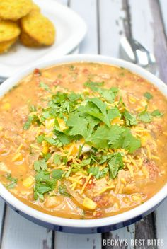 30 Minute White Chicken Chili 30 Minute White Chicken Chili is packed with lean chicken breast, beans, corn, tomatoes, green chilis, smoky spices and fresh cilantro for any game day spread and perfect for the coldest of winter nights! http://www.beckysbestbites.com/30-minute-white-chicken-chili/?utm_campaign=coschedule&utm_source=pinterest&utm_medium=Becky%27s%20Best%20Bites&utm_content=30%20Minute%20White%20Chicken%20Chili #TuesdayTip #healthyrecipe