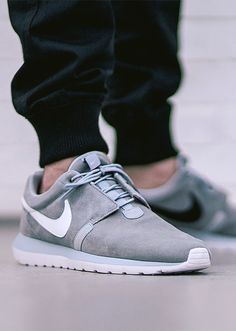 Find this Pin and more on Joggers and jeans. Nike Roshe Run NM Grey sneakers  ...