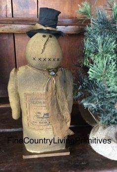 Christmas Winter Primitive Snowman