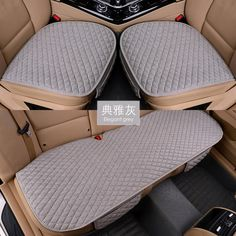 """Universe of goods - Buy """"Linen Fabric Car Seat Cover Four Seasons Front Rear Flax Cushion Breathable Protector Mat Pad Auto accessories Universal Size"""" for only USD. Car Seat Pad, Car Seat Cushion, Seat Pads, Seat Cushions, Car Seats, Pillows, Chelsea, Seat Protector, Cover Gray"""