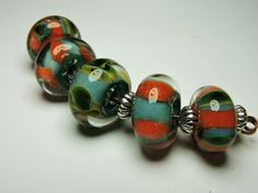 Lampwork Beads Borosilicate SEDONA Two Sisters Designs 072215A by TwoSistersDesignss on Etsy