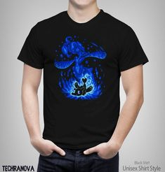16500df32 Water Mermaid Within - Water Evolve - Primarina T-Shirt // pokemon Shirt //  popplio element silhouette Shirt // Video Game T-Shirt