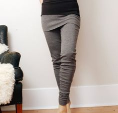 Wool leggings with a built in skirt. Love.