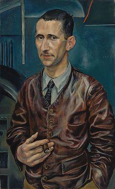 Bertold Brecht (Rudolf Schlichter, circa 1926, Lenbachhaus, Munchen, Germany)