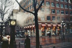 The old Steam Clock in Gas Town, Vancouver BC Canada