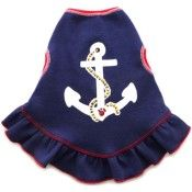 Anchors Away Dog Dress! Perfect for the 4th of July celebration with mans best friend!