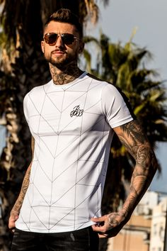 7f78cf4dcba The Hazard Tee is constructed from our custom poly fabric with all-over  geometric print