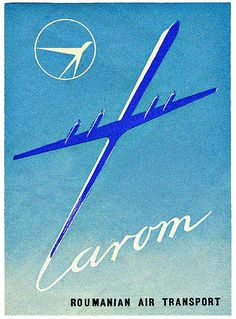 Tarom (Romanian). Love this poster and its for a Romanian Airline? Love it even more! Perhaps my Grandparents (or their relatives!) saw this actual poster! :)