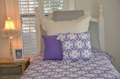 Lovin' lavender...The Bronwyn Collection. Visit Leighdeuxdorms.com to see their variety of colors, designs and more!
