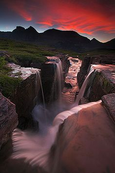 This is truly one of the most amazing spots in the United States, where the waters traveling different directions come together at the Continental Divide, Glacier National Park, Montana.
