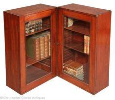 Glazed Campaign Book Cabinet
