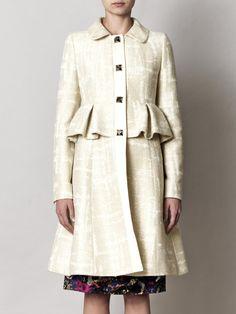 Love this. Peplum Coat.