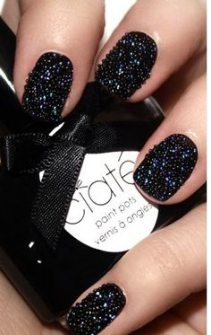 A 'Caviar Manicure'...Yes please! This would look so daring and fun for any special occasion!   Ciate Nail Polish  Coming to Sephora store in April.   Visit our Sephora on level 1 http://media-cache1.pinterest.com/upload/124271270937813166_SfXGm5RI_f.jpg WestfieldFashSq your guide to prom