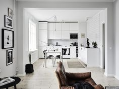 Monochrome Natural Swedish apartment | styling Sarah Wildman and Elin Kicken