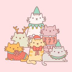 These bored cats are all ready and dressed up for the annual crazy cat lady Christmas card photoshoot, how are you dressing up your kitty this year?  ✨ #crazycatlady #pinstagram #pingame #picame #thedesigntip #theyouthquake #cute #FTA #christmascard #kawaii #cats #sketch #pinlord #design #pinlord #enamelpin #catsofinstagram #enamel #christmascats #illustrator #illustration #drawing #cutekawaii #pintrill #pinoftheday #weareextinct #doodles #kitties #kawaiicute