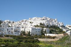 A white town nestling in the mountains down to the sea. In summer, it's a mass of colour with flowers everywhere Andalusia Spain, Murcia, Places To Travel, Mount Rushmore, Costa, Europe, Colour, Holidays, Mountains