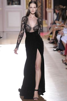 Don't fear the leg. Evening #gown by Zuhair Murad Fall #Couture 2012 - Runway, Fashion Week, Reviews and Slideshows - WWD.com (Photo by Dominique Maitre)