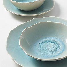 """Jars """"Plume"""" Dinnerware, Ocean Blue - Solids - Bloomingdales.com on Wanelo"""