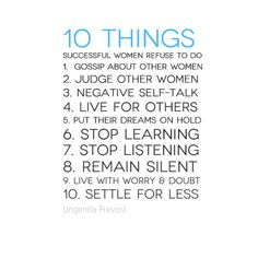 #10 Things Successful Women Refuse To Do