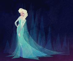 eduardorama:  Snow Queen Elsa (2013) Pintura digitalDigital painting