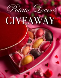 """Enter to win a heart-shaped box of gourmet Idaho fingerling potatoes, a special edition """"Potato Country"""" book, and a Spuddy Buddy Doll! #giveaway"""