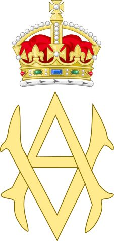 Dual Cypher of Queen Victoria and Prince Albert of Great Britain Victoria And Albert, Queen Victoria, Lip Logo, Royal Marriage, Royal Prince, Royal Life, Prince Albert, Wikimedia Commons, Coat Of Arms