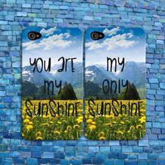 You are my Sunshine Cute Summer Flower Best Friends Quote Case iPhone Cover