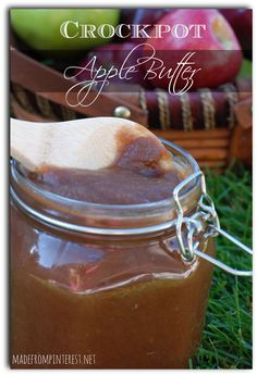 Even if it isn't fall where you live, make this Crockpot Apple Butter and your house will smell like it is!  madefrompinterest.net