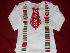 Boy Christmas applique shirt
