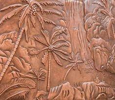 Copper Wall Art hammered copper art | custom abstract modern metal wall art