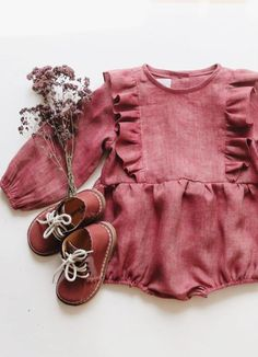 Handmade Heirlooms at Dannie and Lilou & Discover Beautiful Quality Linen Clothing For Babies & Kids Handmade Baby Clothes, Cute Baby Clothes, Baby Girl Fashion Clothes, Clothes For Kids, Kids Clothing, Bohemian Baby Clothes, Cute Outfits For Kids, Baby Boy Outfits, Kid Outfits