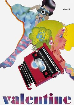 ad for the olivetti velentine by edigio bonfante 1970