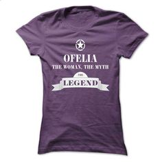 OFELIA, the woman, the myth, the legend - #tshirt fashion #hoodie outfit. ORDER NOW => https://www.sunfrog.com/Names/OFELIA-the-woman-the-myth-the-legend-wvruhyswdg-Ladies.html?68278