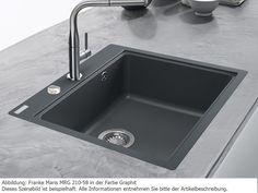Franke Maris MRG 210-58 Onyx Granitspüle Küchenspüle Schwarz Spültisch Einbau: Amazon.de: Küche & Haushalt