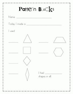 Math Work Stations Blog Party Chapter 7 Geometry