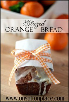 The juice and peel of 4 oranges adds flavor and freshness to these darling loaves of bread!