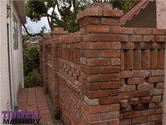 San Diego Masonry Screen Brick Patio Wall