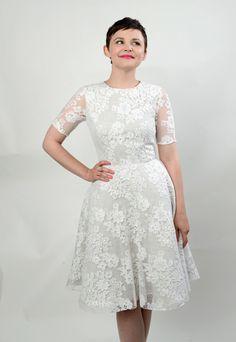 Ginnifer Goodwin. White dress.