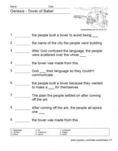 Testament Worksheets, Bible Drill, Bible Church Things, Tower Of Babel ...