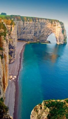 Eye of the Needle at Etretat on France's Normandy coast