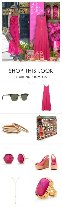 """""""She Who Dares..."""" by petri5 ❤ liked on Polyvore featuring Ray-Ban, Apiece Apart, Nest, Star Mela, Trina Turk, Christian Louboutin and Fragments"""
