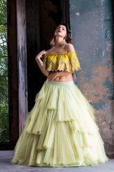 Buy beautiful Designer fully custom made bridal lehenga choli and party wear lehenga choli on Beautiful Latest Designs available in all comfortable price range.Buy Designer Collection Online : Call/ WhatsApp us on : Blouse Designs Catalogue, Net Lehenga, Bridal Lehenga Choli, Lehenga Gown, Choli Designs, Lehenga Designs, Made Design, Photo New, Yellow Lehenga